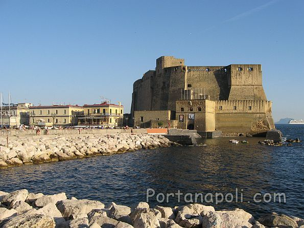 Castel dell'Ovo seen from via Partenope