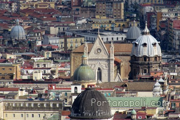 Panorama view of Naples Cathedral