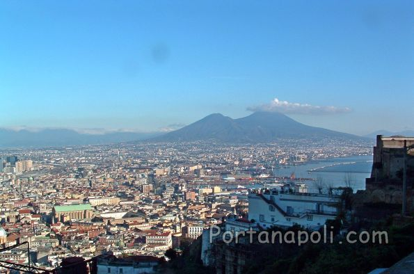 Naples' panorama from Sant'Elmo hill