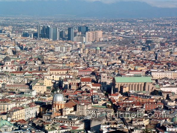 Panorama of the historic centre of Naples and Spaccanapoli