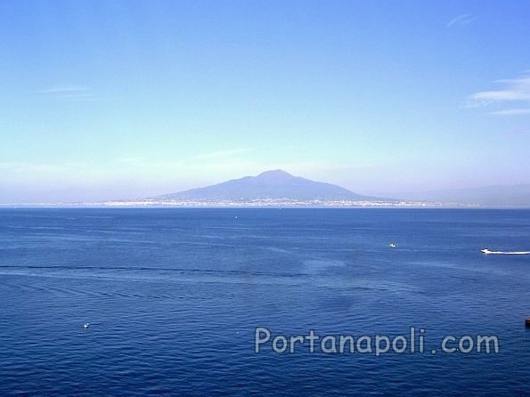 Panoramic view of the Gulf of Naples and Vesuvius